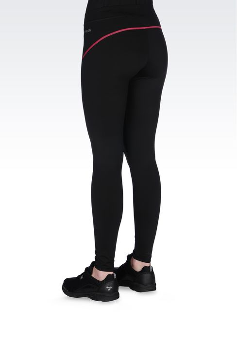 LEGGINGS IN TECHNICAL FABRIC WITH LOGO: Pants Women by Armani - 3