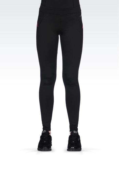 LEGGINGS IN TECHNICAL FABRIC WITH LOGO: Pants Women by Armani - 2
