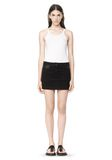 T by ALEXANDER WANG COTTON CANVAS TWILL JEAN SKIRT WITH LEATHER YOKE SKIRT Adult 8_n_f