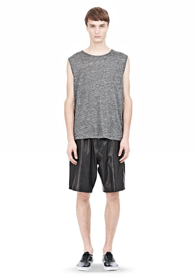T by ALEXANDER WANG WASHED LEATHER SHORTS SHORTS Adult 12_n_f