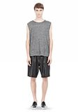 T by ALEXANDER WANG WASHED LEATHER SHORTS SHORTS Adult 8_n_f