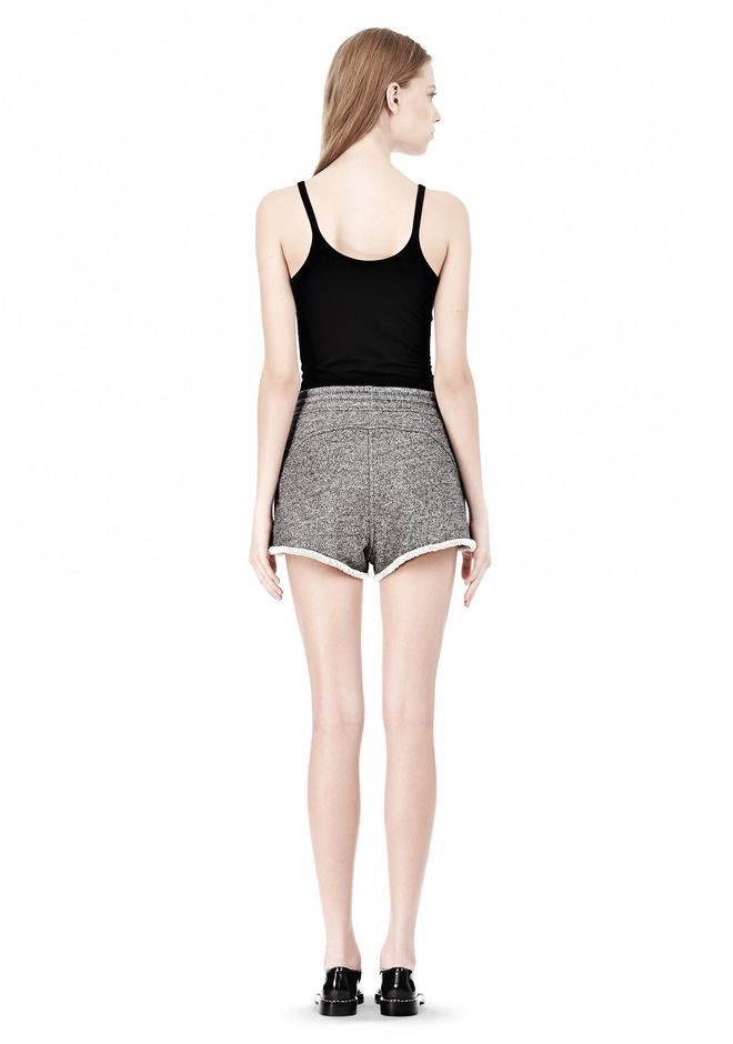 T by ALEXANDER WANG  FRENCH TERRY SHORTS WITH DRAWSTRING SHORTS Adult 12_n_r