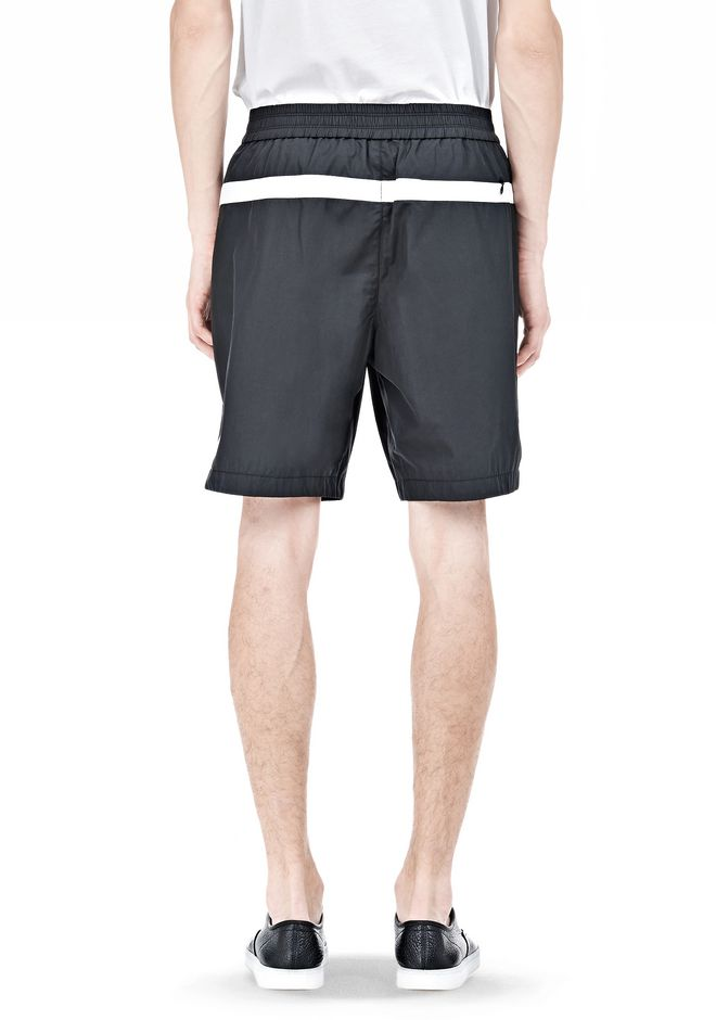 T by ALEXANDER WANG SWIM NYLON GRID PANEL TRUNKS SHORTS Adult 12_n_d