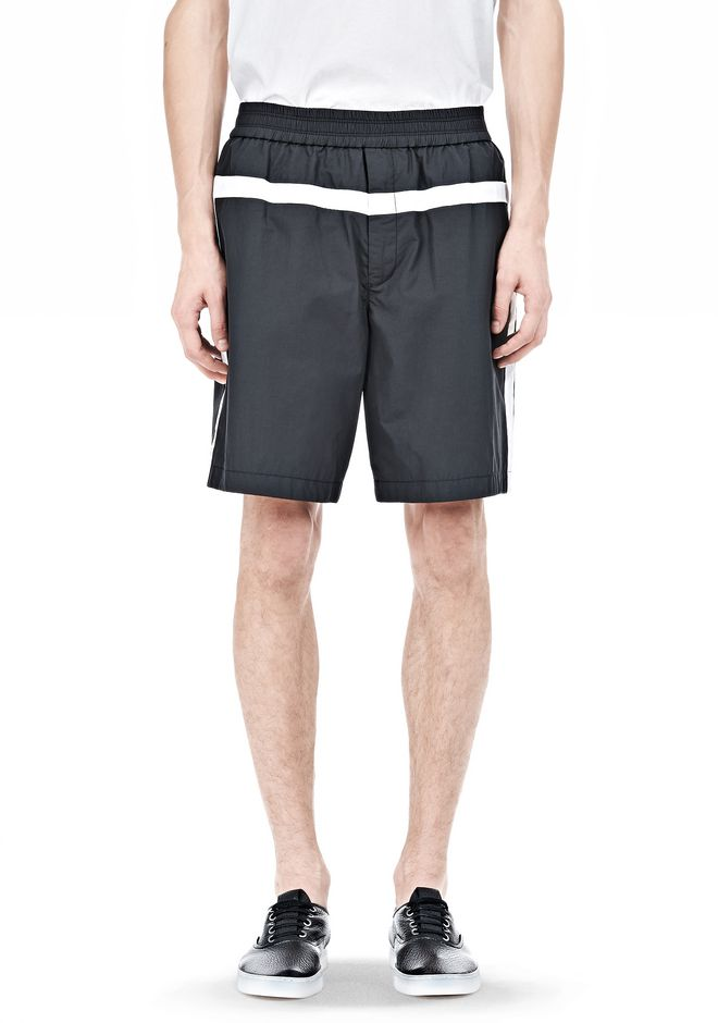 T by ALEXANDER WANG SWIM NYLON GRID PANEL TRUNKS SHORTS Adult 12_n_e