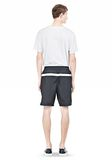 T by ALEXANDER WANG SWIM NYLON GRID PANEL TRUNKS SHORTS Adult 8_n_r