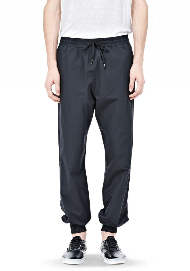 T by ALEXANDER WANG LIGHTWEIGHT NYLON TRACK PANTS PANTS Adult 12_n_d