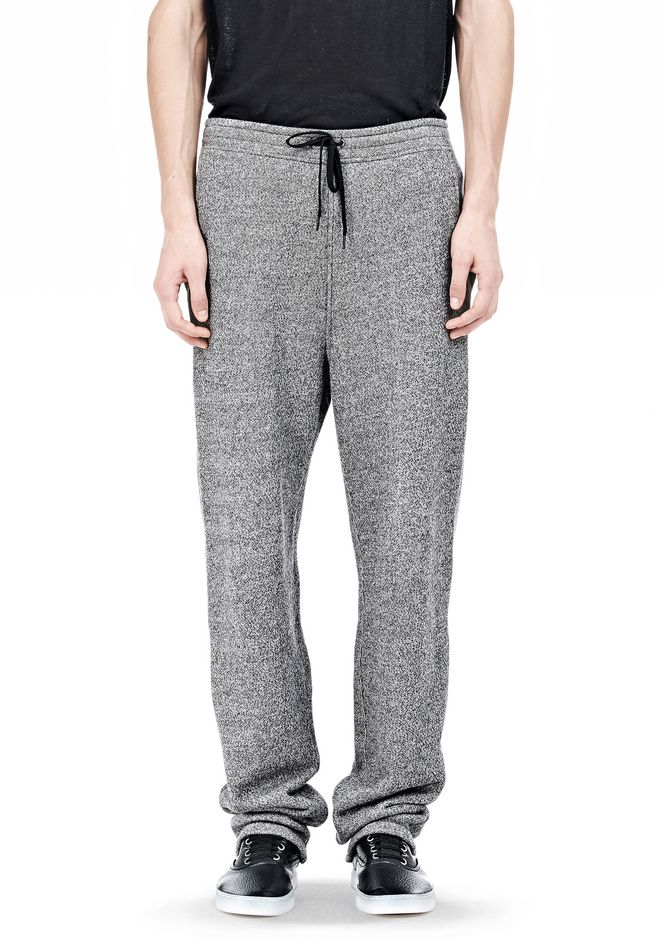 T by ALEXANDER WANG SPECKLED FRENCH TERRY SWEATPANTS PANTS Adult 12_n_d