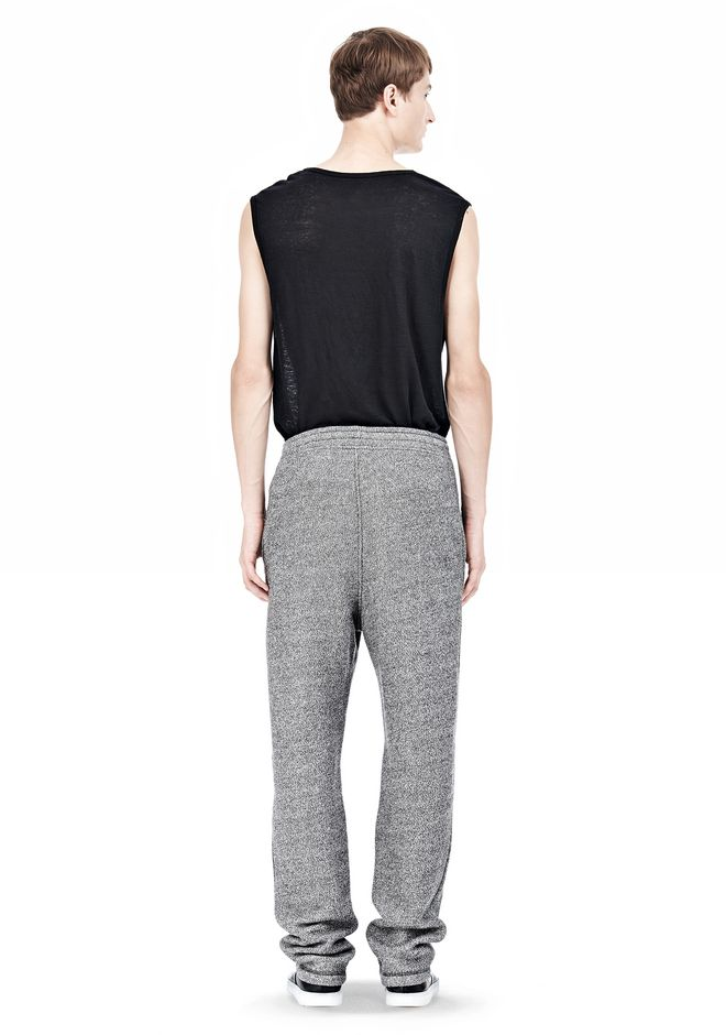 T by ALEXANDER WANG SPECKLED FRENCH TERRY SWEATPANTS PANTS Adult 12_n_r