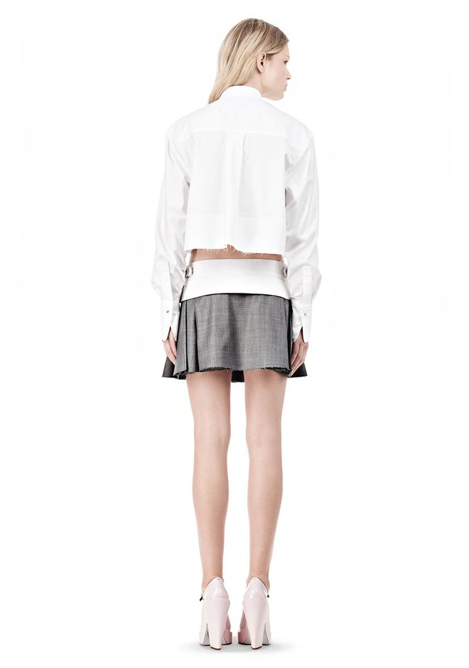 ALEXANDER WANG IRREGULAR PLEAT SKIRT SKIRT Adult 12_n_r