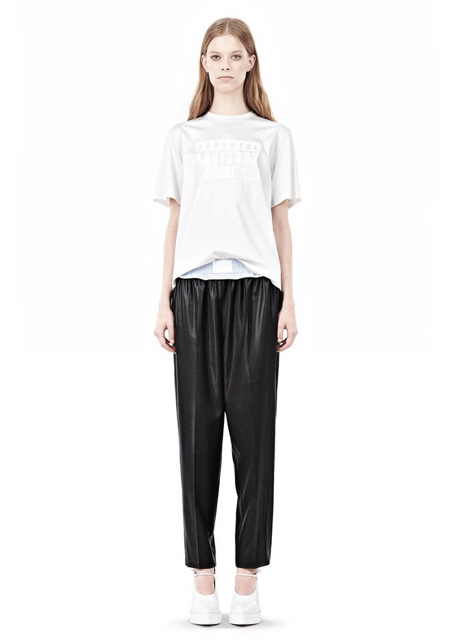 ALEXANDER WANG TRACK PANT WITH BOXER SHORT WAISTBAND PANTS Adult 12_n_f