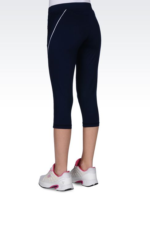 LEGGINGS IN TECHNICAL FABRIC WITH LOGO: Beach tanks Women by Armani - 3