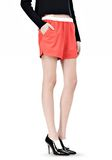 T by ALEXANDER WANG LEATHER SHORTS WITH ELASTIC WAISTBAND SHORTS Adult 8_n_e