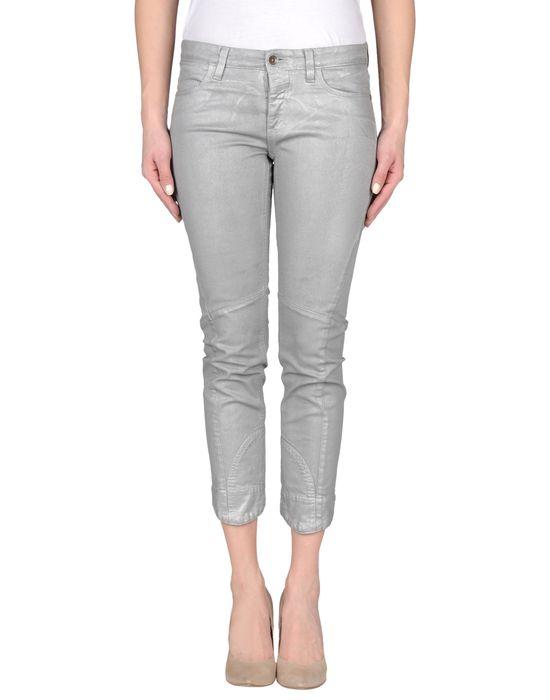 Джинсовые брюки-капри CLOSED. Цвет: серый