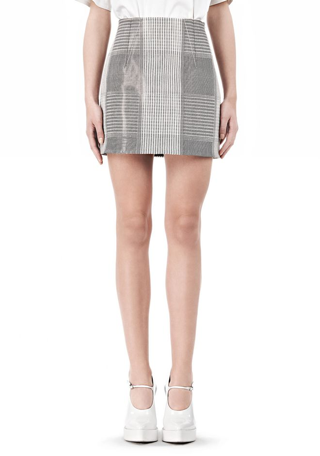 ALEXANDER WANG MINISKIRT WITH DART DETAIL SKIRT Adult 12_n_d