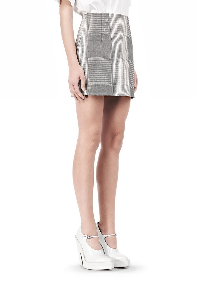 ALEXANDER WANG MINISKIRT WITH DART DETAIL SKIRT Adult 12_n_e