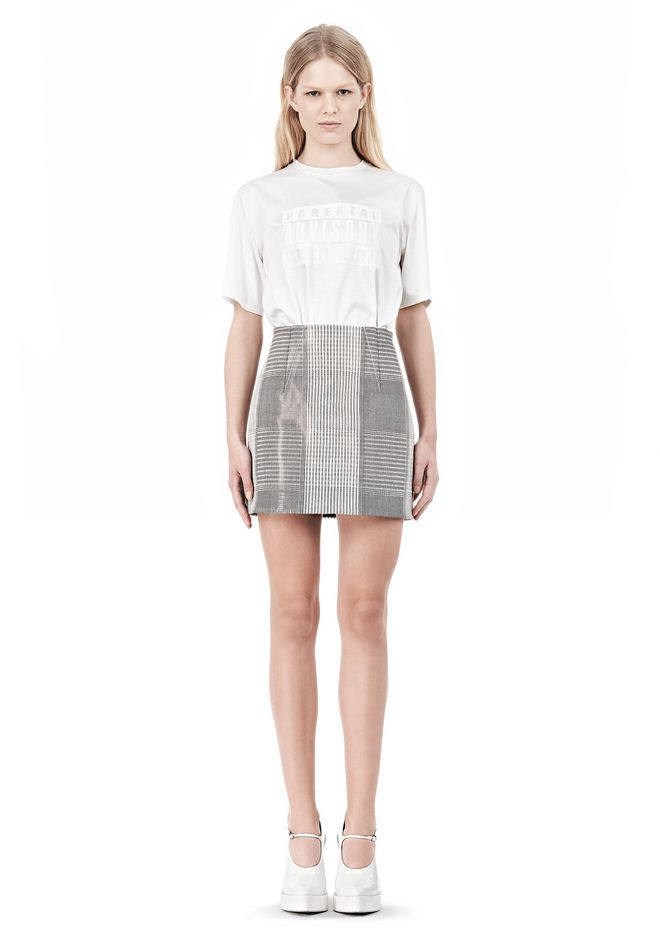 ALEXANDER WANG MINISKIRT WITH DART DETAIL SKIRT Adult 12_n_f