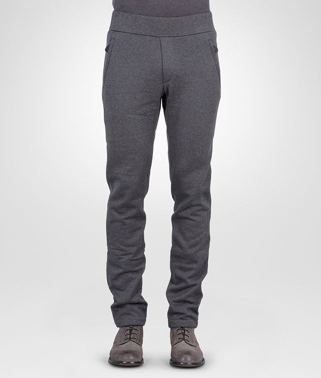 BOTTEGA VENETA New Dark Grey Melange Organic Cotton Wool Jersey Pant Trouser or jeans U fp