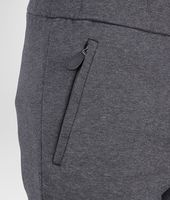 New Dark Grey Melange Organic Cotton Wool Jersey Pant