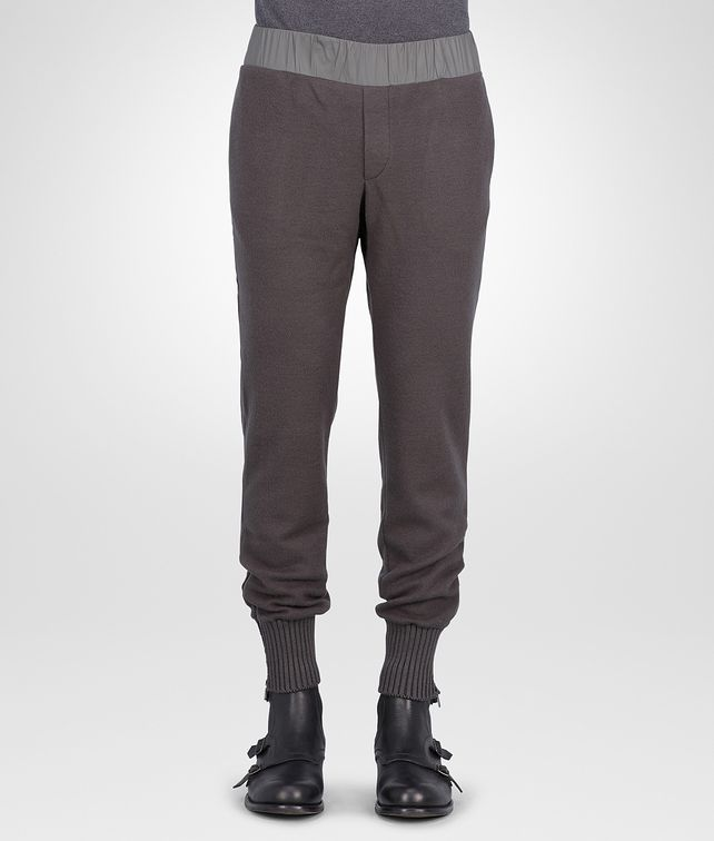 New Dark Grey Wool Jersey Soft Nylon Pant