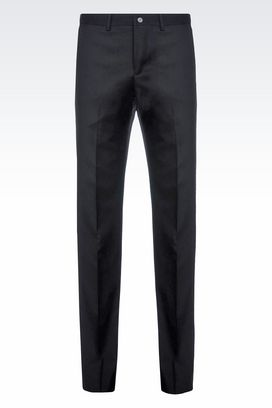 Armani Straight leg trousers Men worsted wool trousers