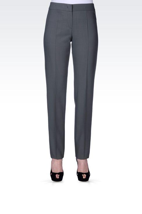 CLASSIC WOOL TROUSERS: Straight leg pants Women by Armani - 3
