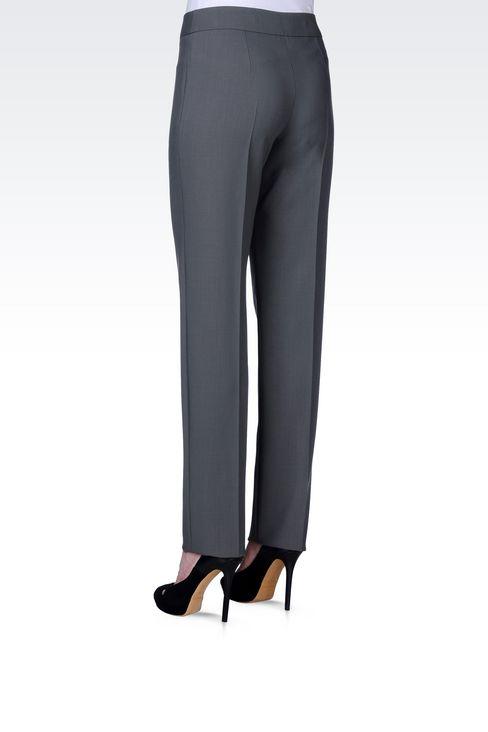 CLASSIC WOOL TROUSERS: Straight leg pants Women by Armani - 4