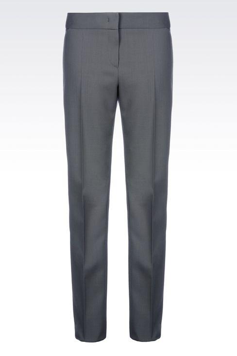 CLASSIC WOOL TROUSERS: Straight leg pants Women by Armani - 1