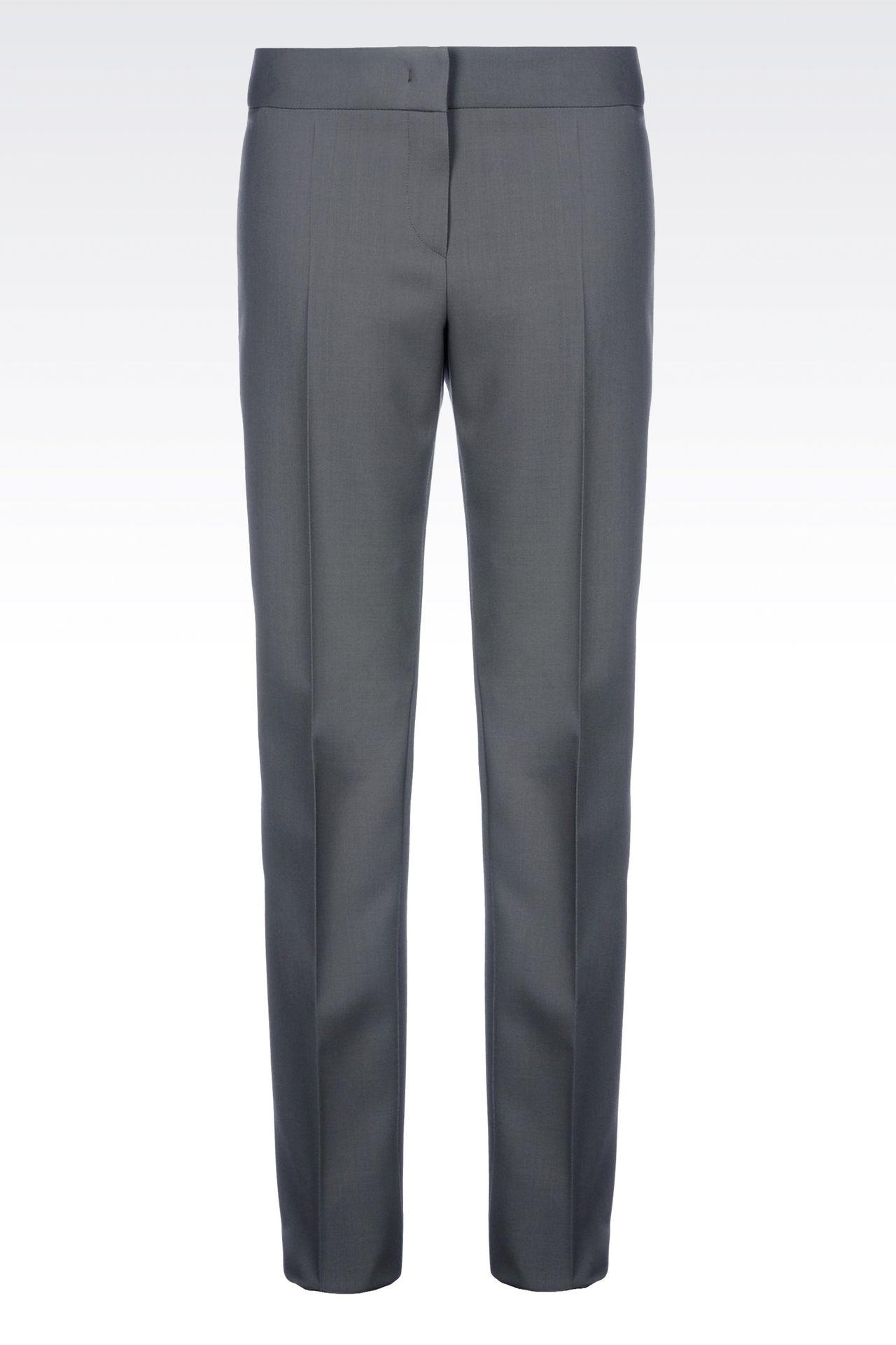 CLASSIC WOOL TROUSERS: Straight leg pants Women by Armani - 0