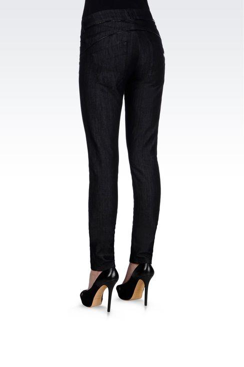 SKINNY DARK WASH JEANS: Jeans Women by Armani - 4