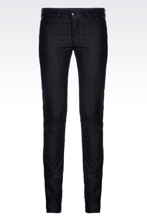 SKINNY DARK WASH JEANS: Jeans Women by Armani - 1