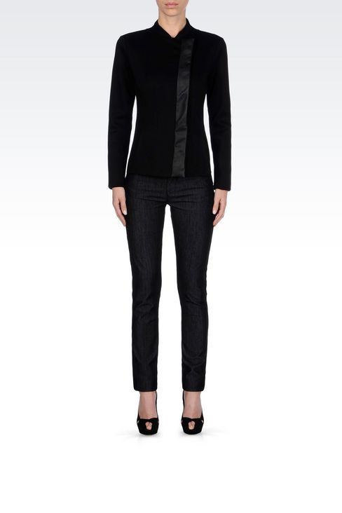 SKINNY DARK WASH JEANS: Jeans Women by Armani - 2