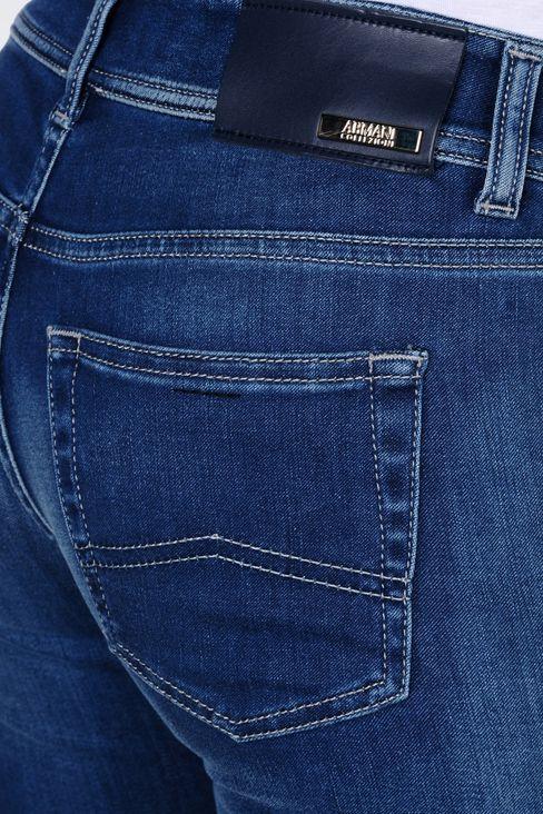 REGULAR FIT DARK WASH JEANS: Jeans Women by Armani - 5