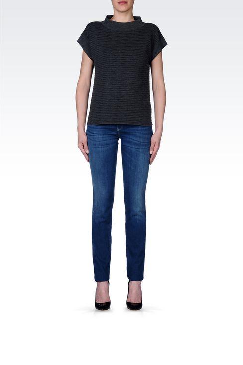 REGULAR FIT DARK WASH JEANS: Jeans Women by Armani - 2