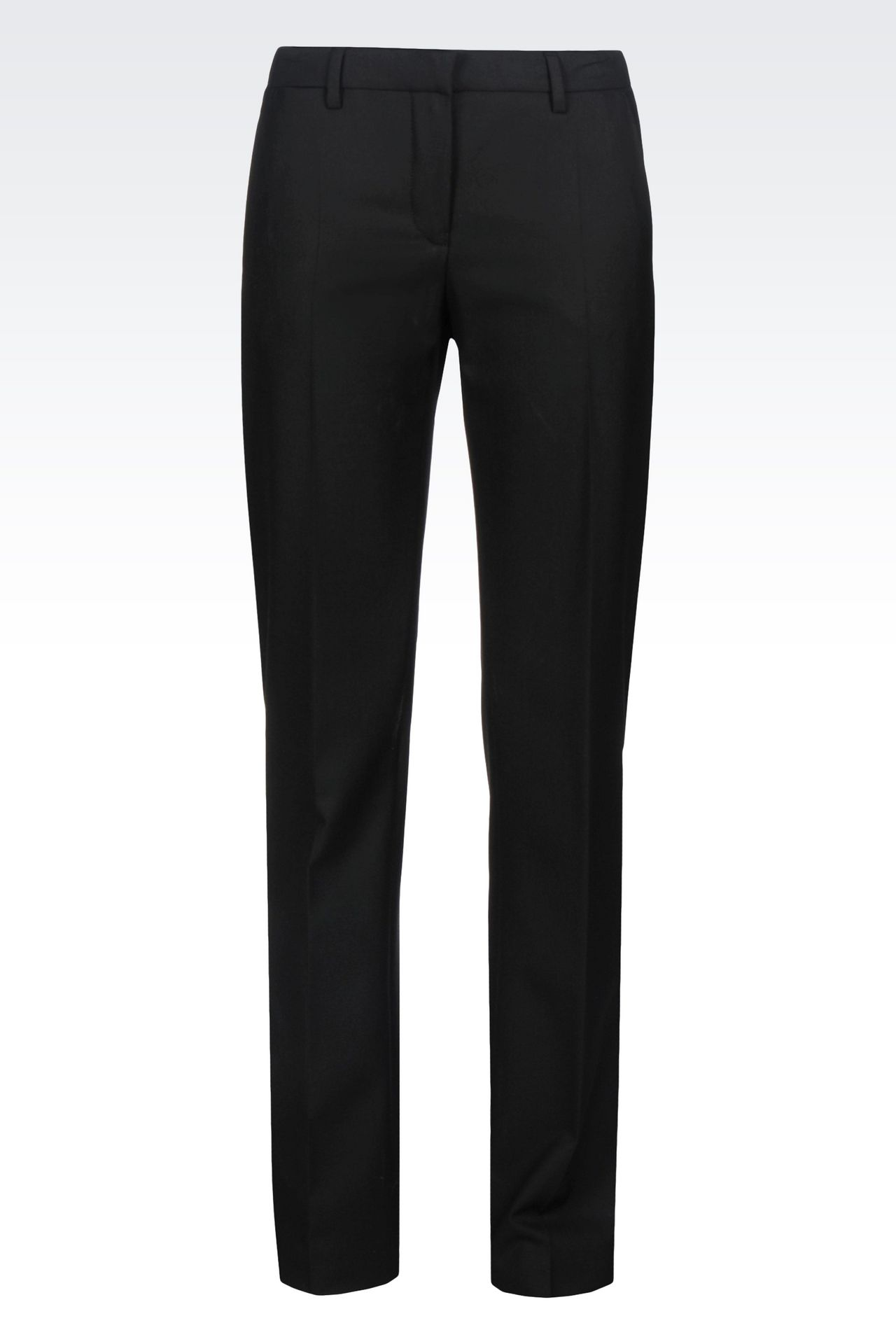 REGULAR FIT TROUSERS IN TECHNICAL VISCOSE: Low-rise pants Women by Armani - 0