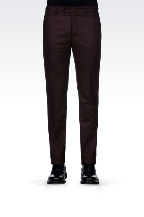 TROUSERS IN LIGHT BROADCLOTH: Chinos Men by Armani - 3
