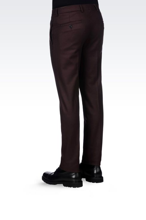 TROUSERS IN LIGHT BROADCLOTH: Chinos Men by Armani - 4