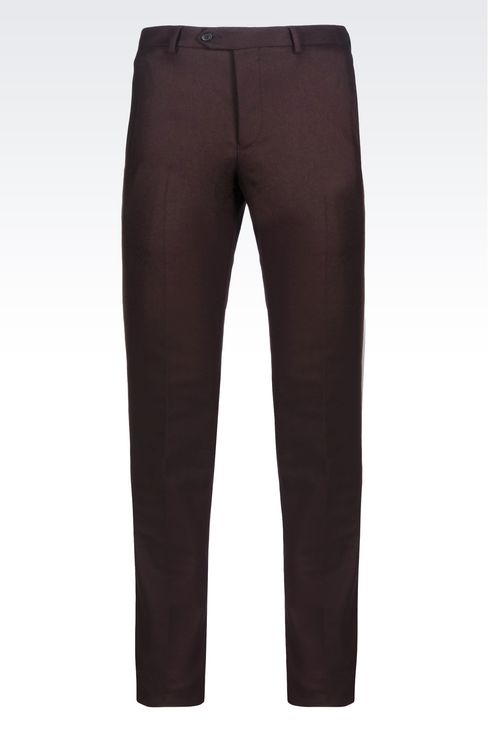 TROUSERS IN LIGHT BROADCLOTH: Chinos Men by Armani - 1