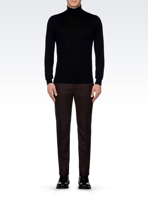 TROUSERS IN LIGHT BROADCLOTH: Chinos Men by Armani - 2