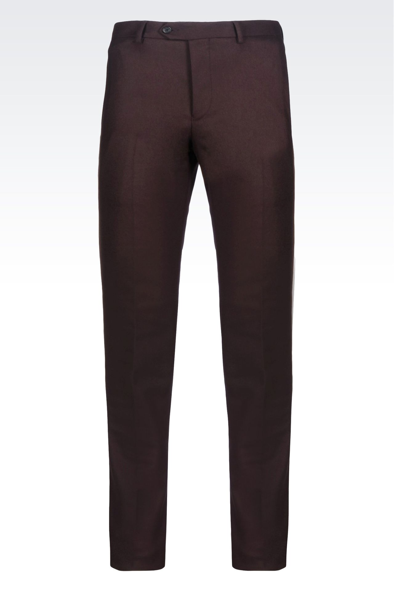 TROUSERS IN LIGHT BROADCLOTH: Chinos Men by Armani - 0