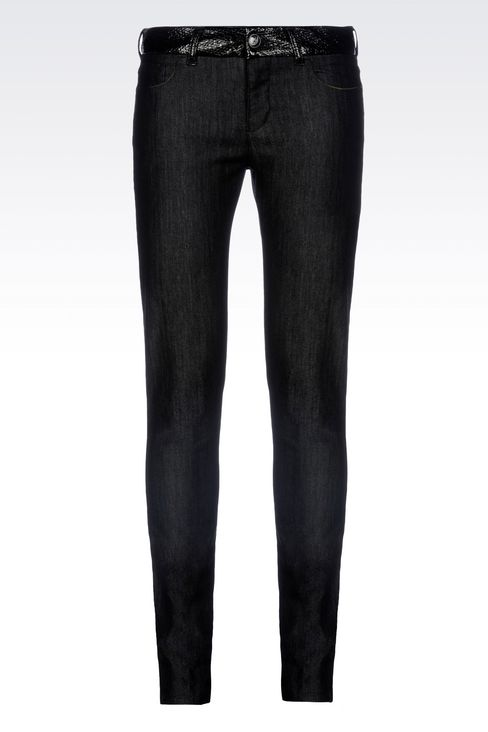SUPER SKINNY DARK WASH JEANS: Jeans Women by Armani - 1