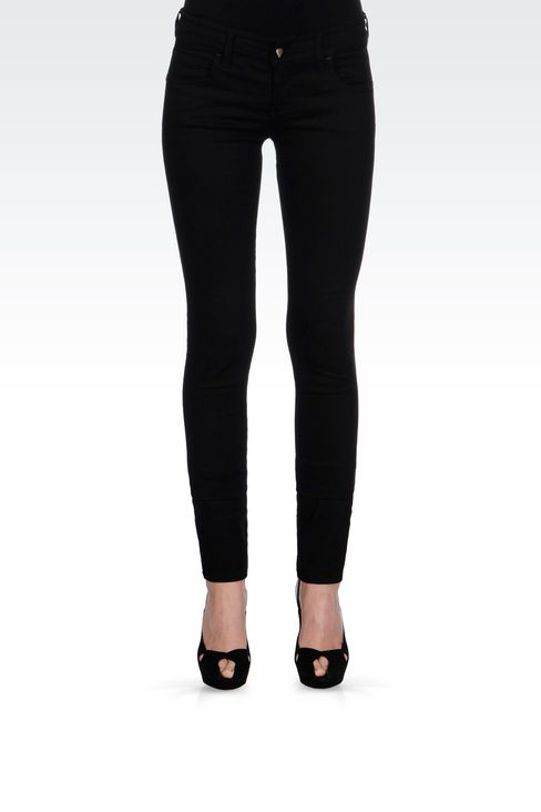 BLACK WASH JEGGINGS : 5 pockets Women by Armani - 3
