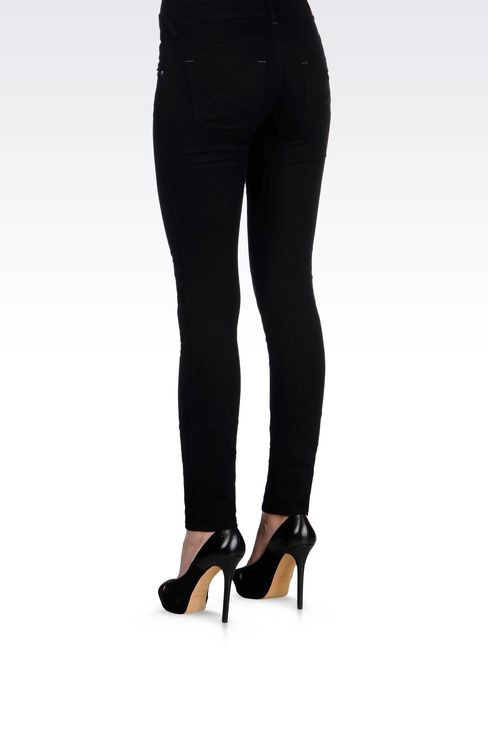 BLACK WASH JEGGINGS : 5 pockets Women by Armani - 4