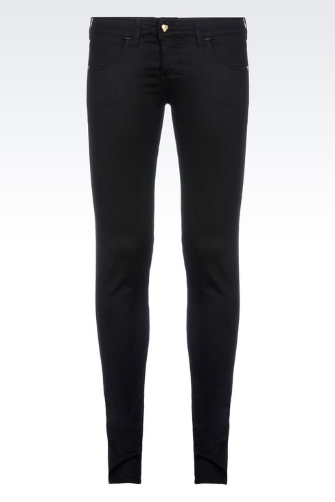 BLACK WASH JEGGINGS : 5 pockets Women by Armani - 1