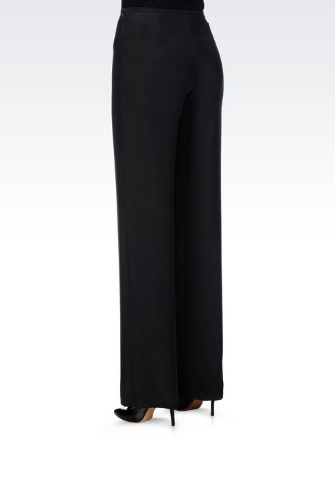 PALAZZO PANTS IN CADY: Wide-leg trousers Women by Armani - 4
