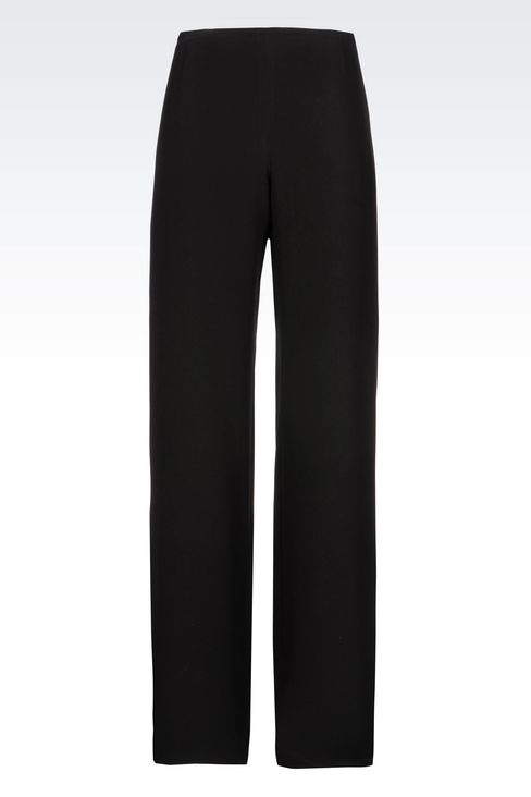 PALAZZO PANTS IN CADY: Wide-leg trousers Women by Armani - 1