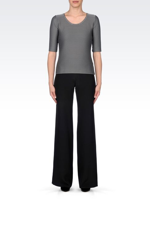 PALAZZO PANTS IN CADY: Wide-leg trousers Women by Armani - 2
