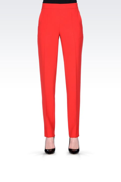 CIGARETTE TROUSERS IN CADY: Straight leg pants Women by Armani - 3