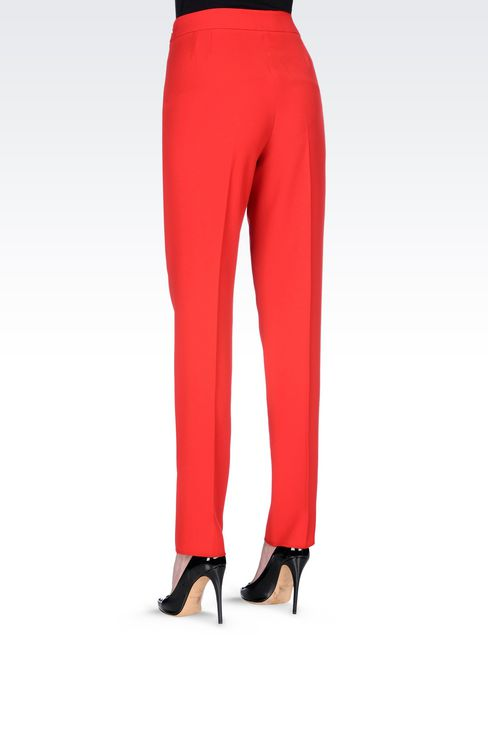 CIGARETTE TROUSERS IN CADY: Straight leg pants Women by Armani - 4