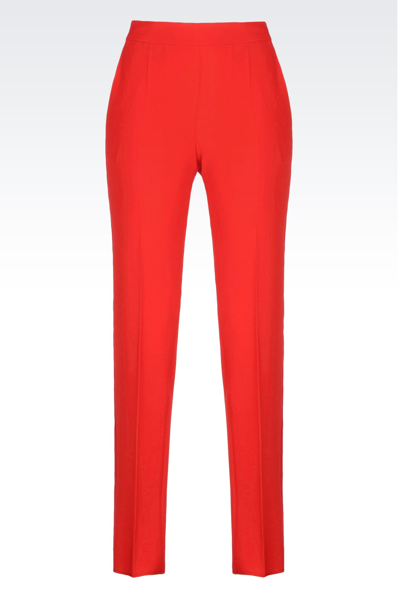 CIGARETTE TROUSERS IN CADY: Straight leg pants Women by Armani - 0