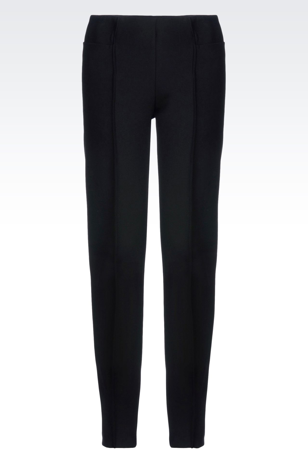 SKINNY FIT TROUSERS IN STRETCH VISCOSE: Straight leg pants Women by Armani - 0